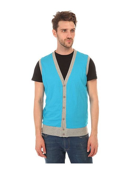 Urban Classics | Мужская Голуба Жилетка Jersey Button Vest Turquoise/Grey