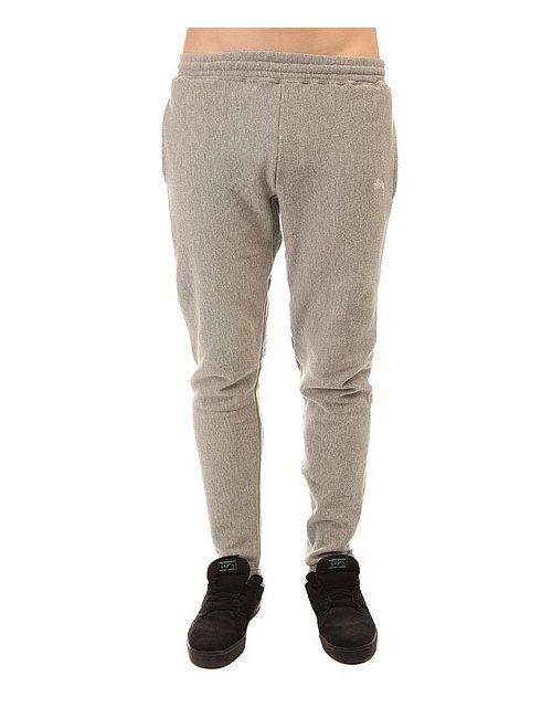 Stussy | Мужские Серые Штаны Спортивные Stock Fleece Pant Grey Heather