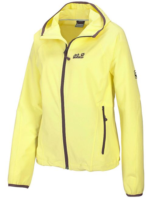 Jack Wolfskin   Женская Жёлтая Куртка Turbulence