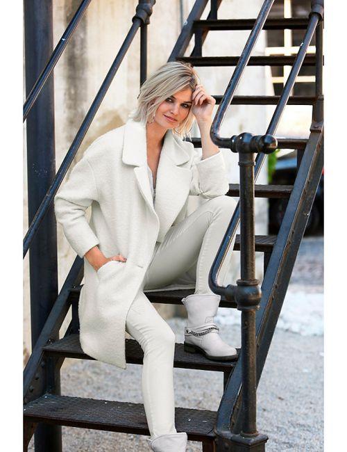 Laura Scott | Женское Цвет Белой Шерстящее Пальто