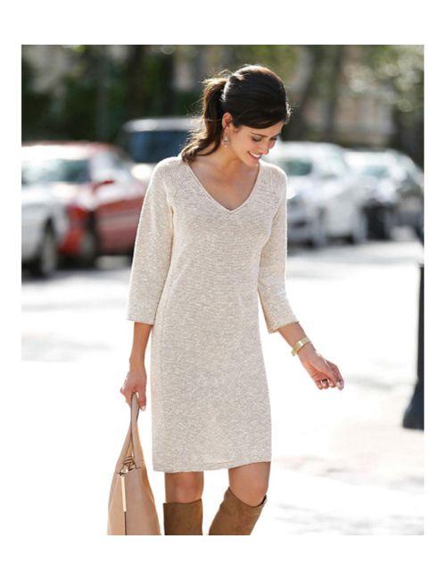 Venca | Женское Коричневое Платье