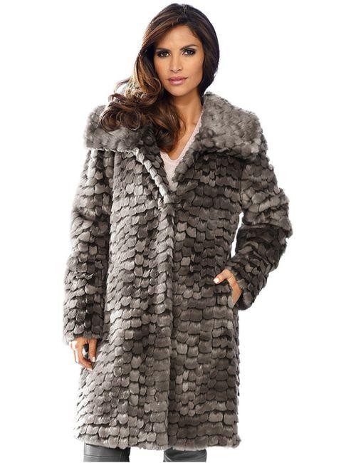 Ashley Brooke | Женское Коричневое Пальто Из Искусственного Меха