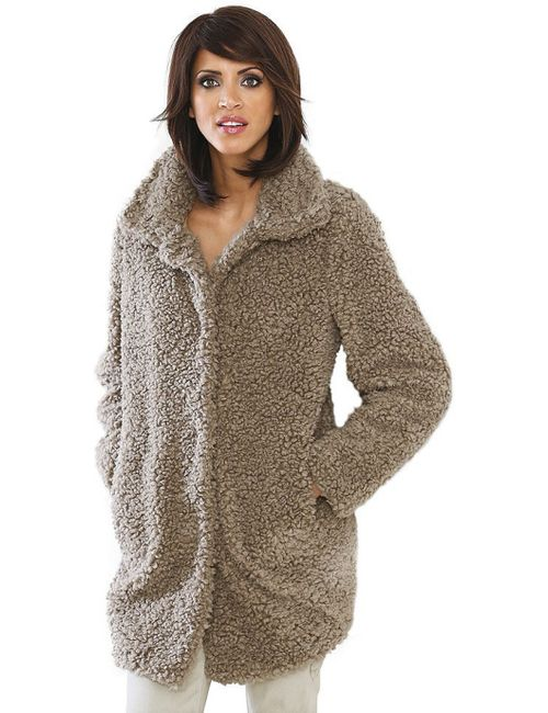 Linea Tesini | Женское Коричневое Плюшевое Пальто