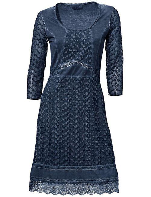 Linea Tesini   Женское Синее Кружевное Платье