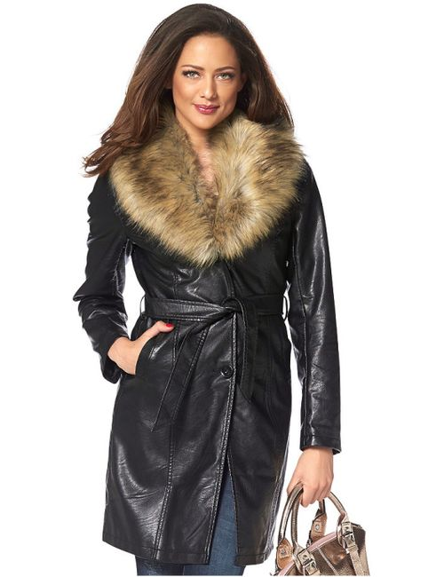 Melrose | Женское Чёрное Пальто