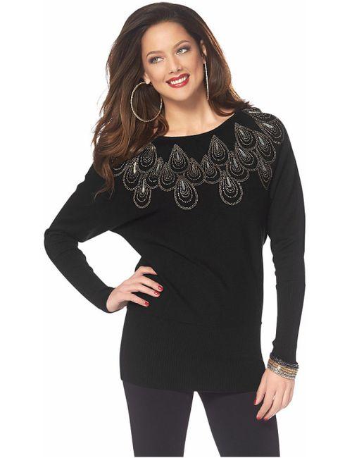 Melrose   Женский Чёрный Пуловер