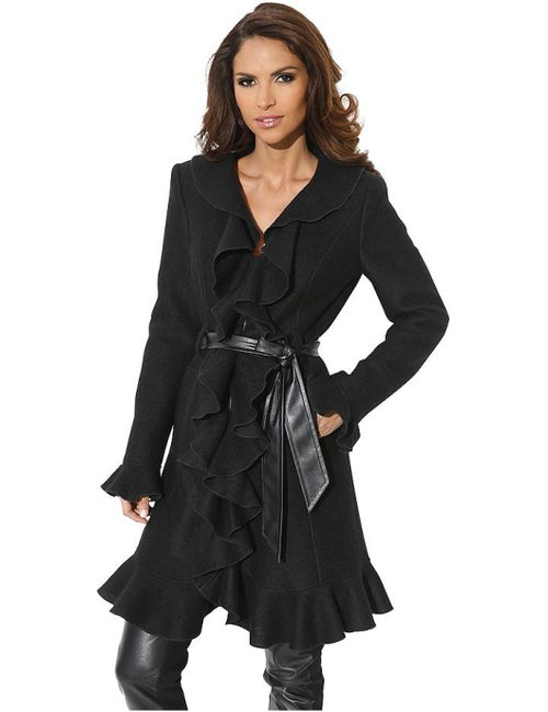 Ashley Brooke | Женское Чёрное Пальто