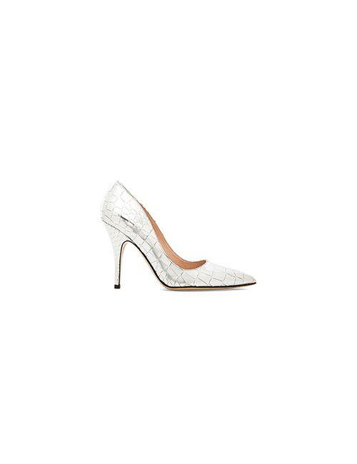 Kate Spade New York | Женские Металлический Серебряные Туфли На Каблуке Licorice
