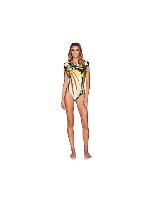 AGUADECOCO | Женский Жёлтый Слитный Купальник Yellow Shoal