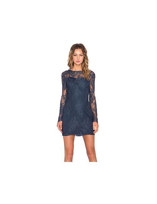 Style Stalker | Женское Синее Платье С Длинным Рукавом Katara Stylestalker