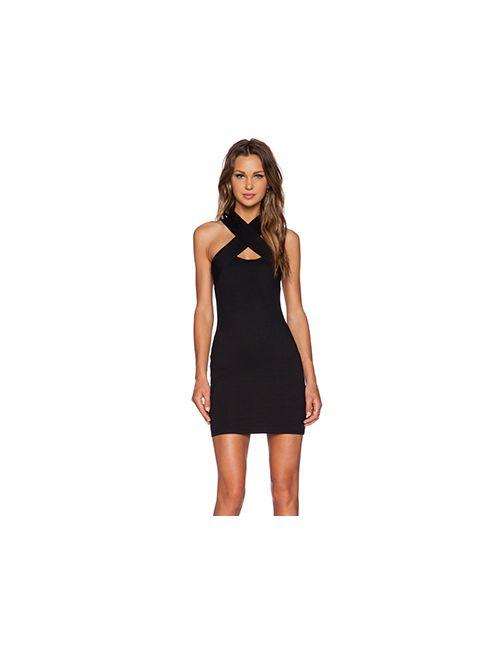 Motel | Женское Чёрное Обтягивающее Платье Devora
