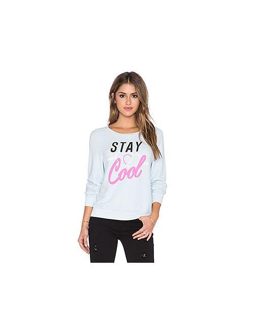 Wildfox Couture | Синие Свитшот Stay Cool