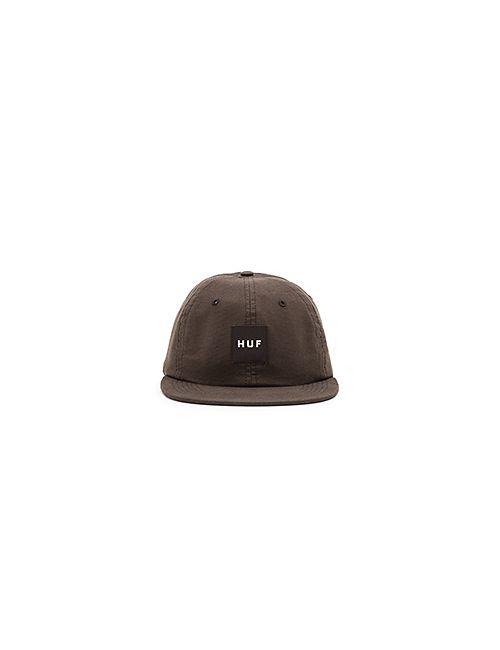 Huf | Мужская Чёрная Шляпа Logo 6 Panel