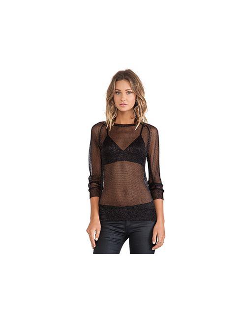 sen | Женская Чёрная Рубашка С Длинными Рукавами Riley