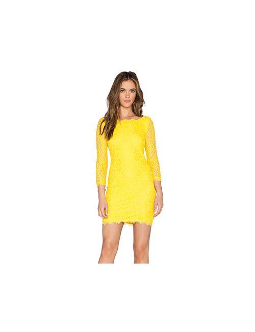 Diane Von Furstenberg | Женское Жёлтое Платье Zarita
