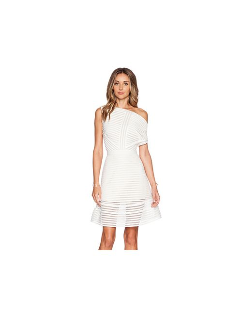 SELF-PORTRAIT | Женское Белое Платье С Юбкой Солнце