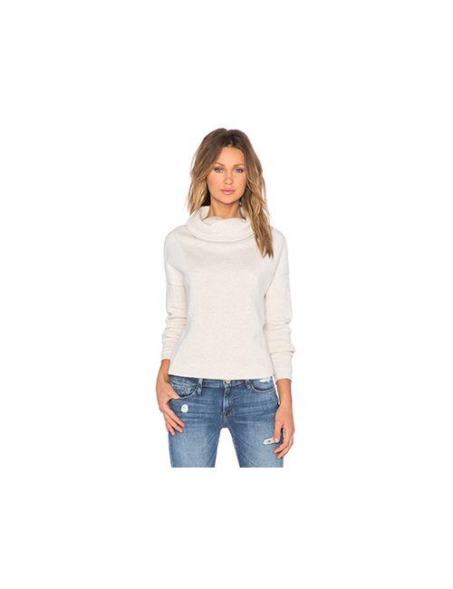 Bella Luxx | Женский Кремовый Пуловер С Высоким Воротом