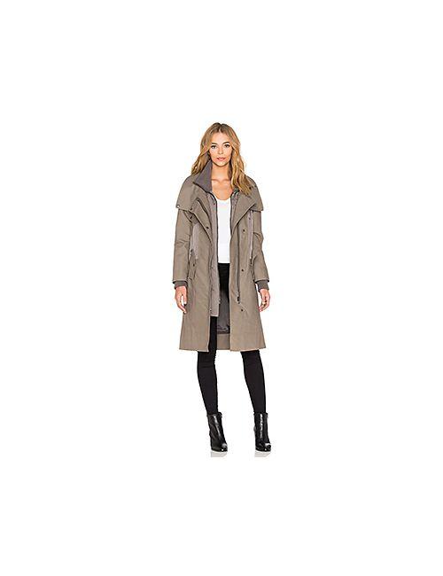 ashley B | Женская Серая Куртка С Внутренними Вставками Из Хлопка