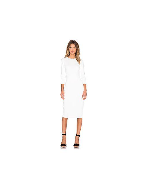 TY-LR | Женское Белое Трикотажное Платье The Mirage