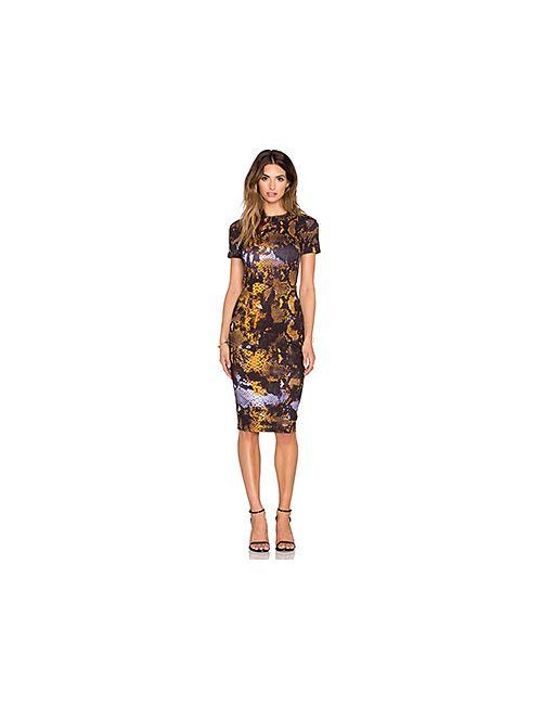 Mcq Alexander Mcqueen | Женское Горчичное Обтягивающее Платье