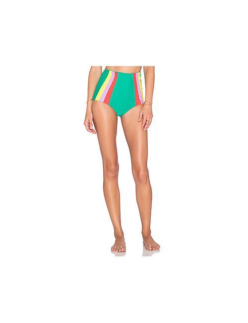 lolli swim | Женский Зелёный Низ Бикини Swirl