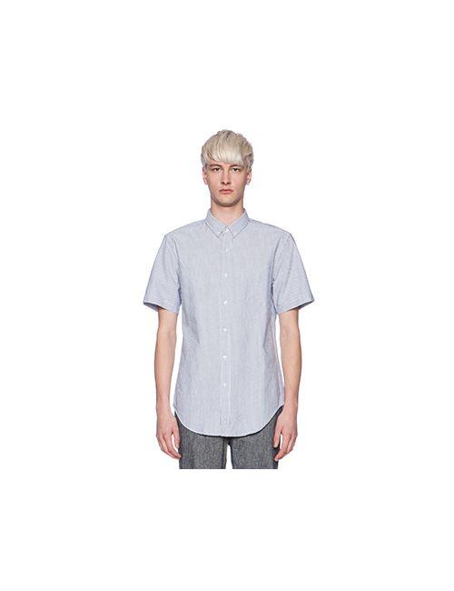 Shades Of Grey By Micah Cohen | Мужская Синяя Рубашка С Коротким Рукавом