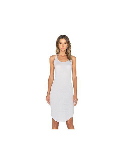 BLQ BASIQ | Женское Серое Платье С Y-Образными Бретельками