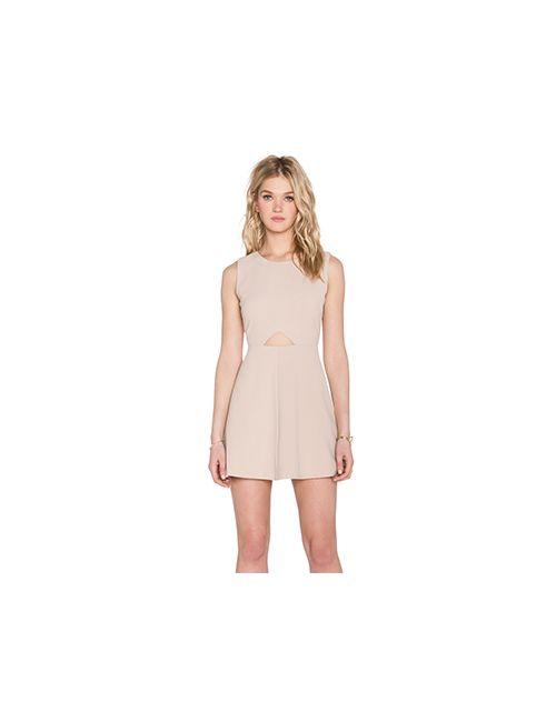 Blaque Label | Женское Беж Платье С Вырезами