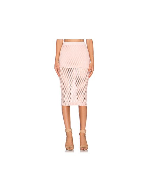 Monrow   Женская Розовая Юбка Crochet