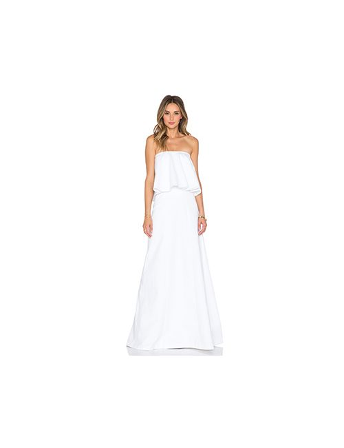Alexis | Женский Белый Макси Платье Ola