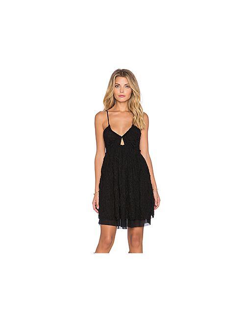 Free People | Женское Черный Кружевное Платье Nicolette