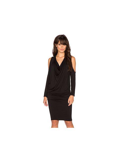 sen | Женское Чёрное Платье Janica