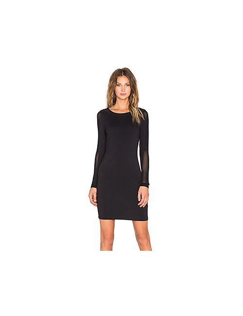 Bobi | Женское Черный Платье Миди Heavy Spandex