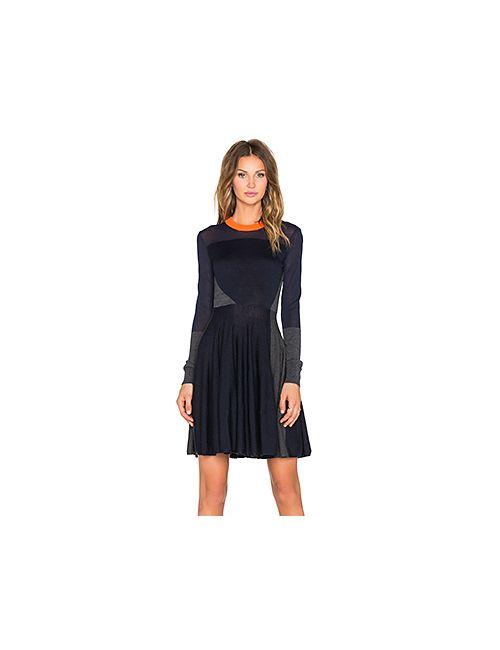 Mcq Alexander Mcqueen | Женские Синие Мини Платье Colorblock Dress