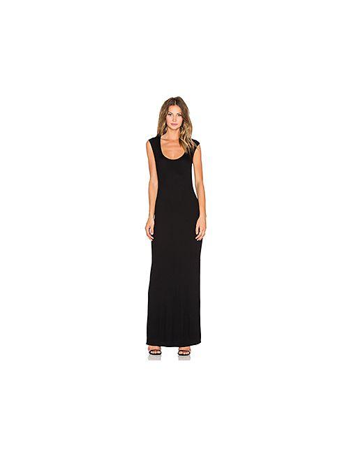 Heather | Женское Чёрное Платье Миди