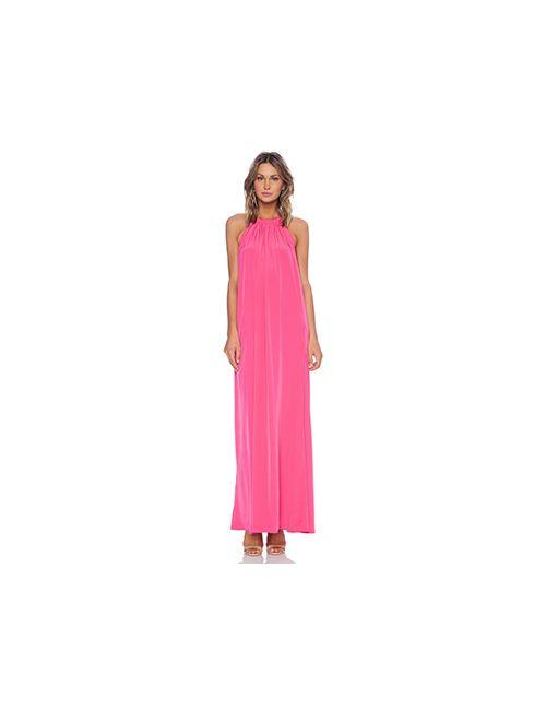 Assali | Женский Розовый Макси Платье Borgia
