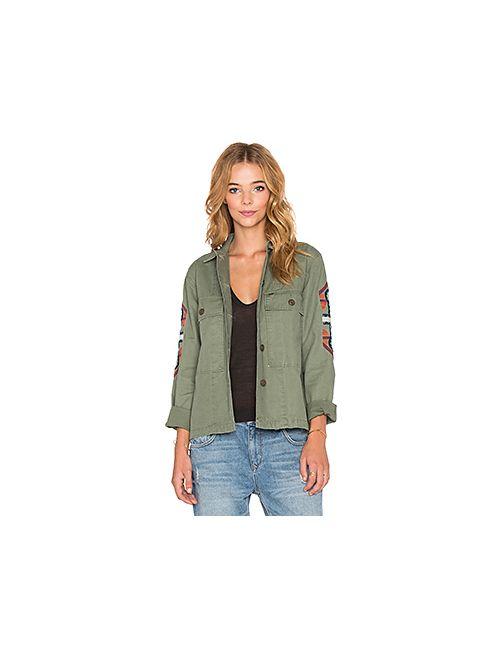 Obey   Женская Военный Стиль Куртка-Рубашка Brighton