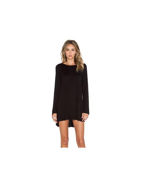 Michael Lauren | Женское Чёрный Платье С Длинным Рукавом Harvest