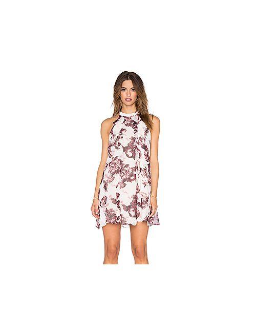 BCBGeneration | Женское Белое Цветочное Цельнокроеное Платье
