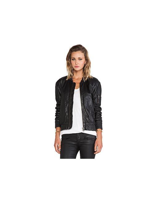 Muubaa | Женская Чёрная Куртка Бомбер Isonta