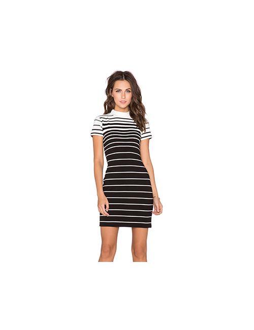 State of Being | Женское Черный Платье Faded Stripe