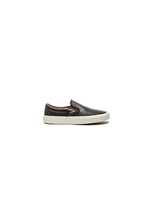 Vans   Мужские Чёрные Кроссовки California Classic Slip On Veggie Leather