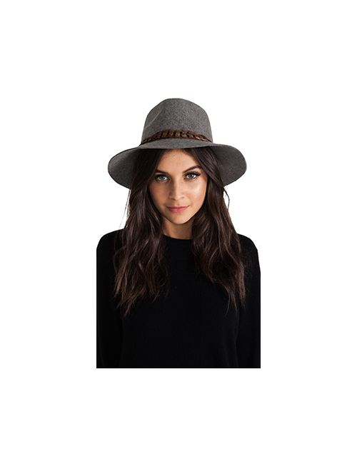 Michael Stars | Женское Серый Pheasant Trimmed Wide Brim Hat