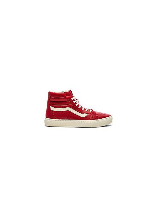 Vans | Мужские Красные Кроссовки California Sk8 Hi Cup Leather