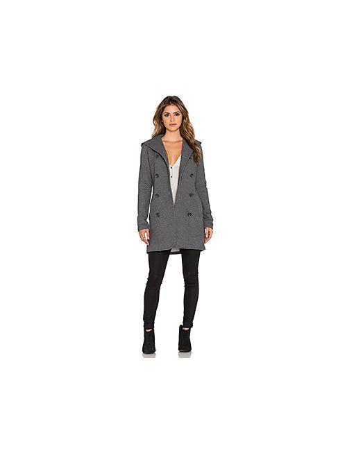 James Perse | Женское Серое Двубортное Пальто