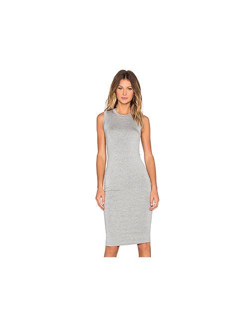BLQ BASIQ | Женское Серое Платье Из Джерси Без Рукавов