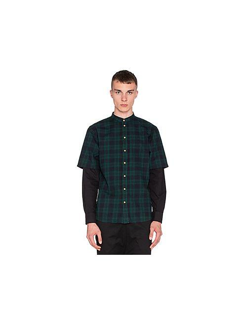 I Love Ugly   Мужская Зелёная Рубашка Со Стоящим Воротником