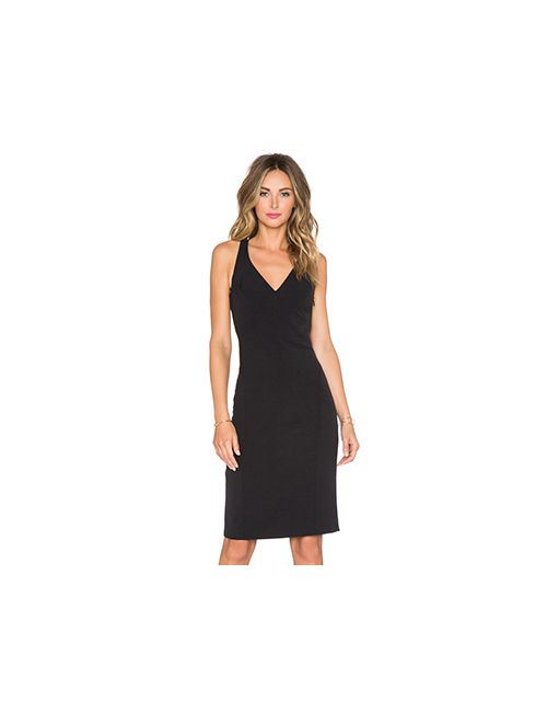 Milly | Женское Чёрное Угловое Платье Cady