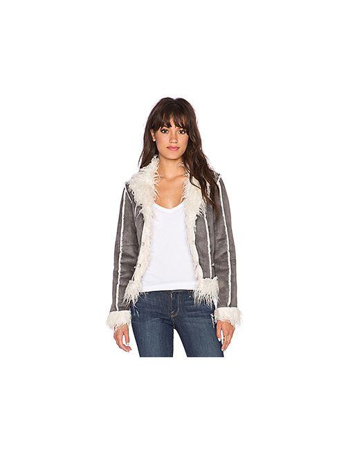 Lucy Paris   Женская Серая Куртка Из Искусственной Овчины