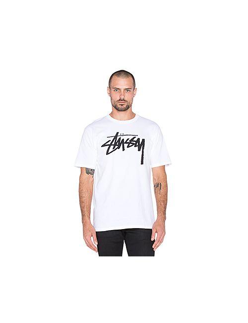 Stussy | Мужская Белая Футболка С Рисунком Stock